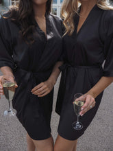 Load image into Gallery viewer, Black satin robes -Robes4you