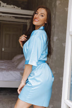 Load image into Gallery viewer, Blue satin robe -Robes4you