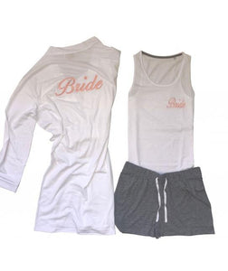 Personalised bridal  Cotton Pj and Robe set - Robes 4 You