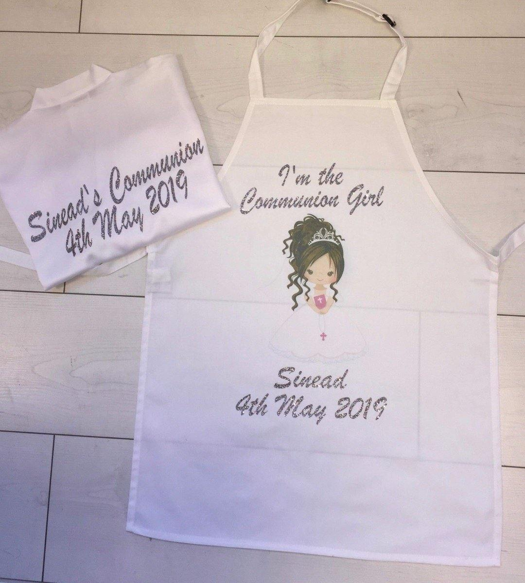 Communion Set- Personalised Apron and Satin Robe - Robes 4 You