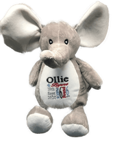 Load image into Gallery viewer, Personalised Birth Elephant with a gift  bag