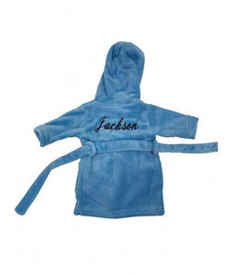 Personalised Blue Childrens Hooded Robe - Robes 4 You