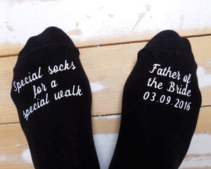Personalised Father of the bride socks - Robes 4 You