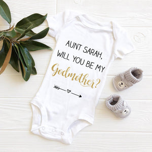 Will you be my godmother babygrow? - Robes 4 You