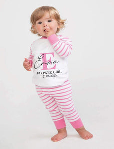 Personalised Flowergirl pyjamas