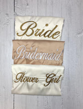 Load image into Gallery viewer, Bridal robes- Champagne and Ivory satin embroidered dressing gowns - Robes 4 You