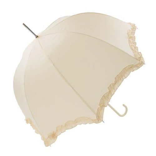 Ivory Scallop frilled umbrella - Robes 4 You