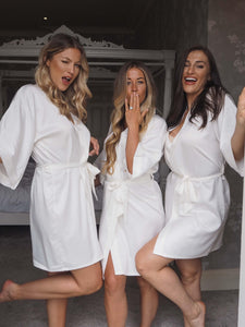 Ivory bridesmaid robes - Robes4you