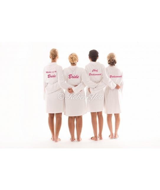 White or Pink, Grey or Black Robes embroidered ANY COlOUR - Robes 4 You