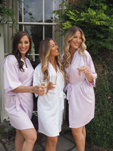 Load image into Gallery viewer, Lilac silk robes -Robes4you