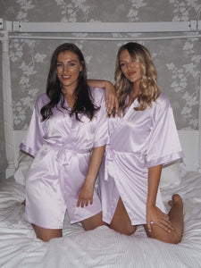 purple satin robes -Robes4you