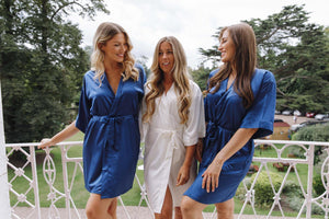 Navy bridal robes -Robes4you