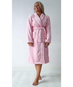 Luxury White & Baby Pink Robes Embroidered Cerise Pink - Robes 4 You