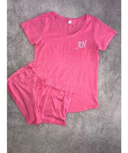 Pink Shorts and Pink T-Shirt Pyjamas - Robes 4 You