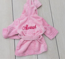 Load image into Gallery viewer, Matching Baby Pink personalised Children's robe