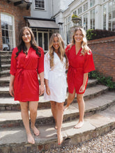 Load image into Gallery viewer, Red Bridesmaid silk robes -Robes4you