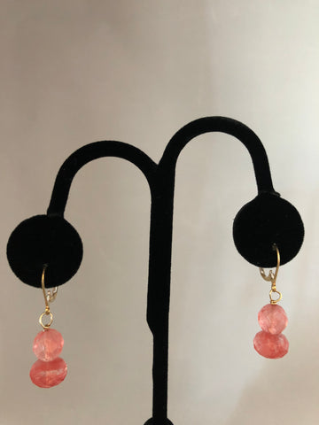 WATERMELON QUARTS EARRINGS