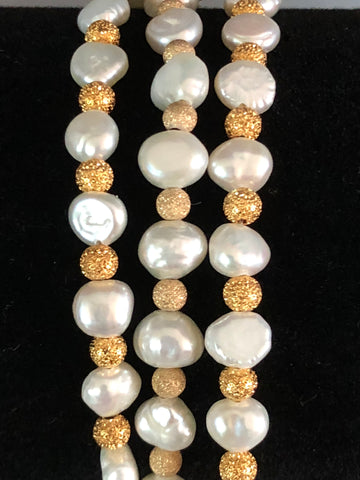 STARDUST BEADS WITH FRESHWATER PEARLS