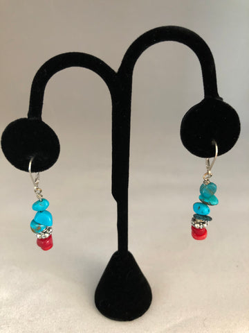 CORAL, TURQUOISE AND STERLING