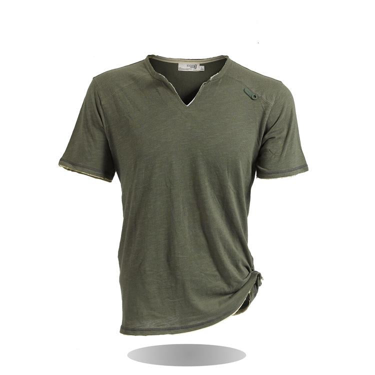f5461cb5d1f New Cotton Sports V-Neck Men s T-shirt – Veliter