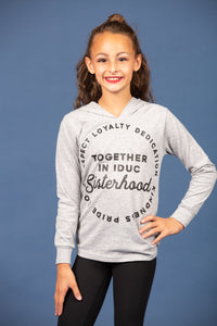 Sisterhood Loyalty Long Sleeve Lightweight Hoodie