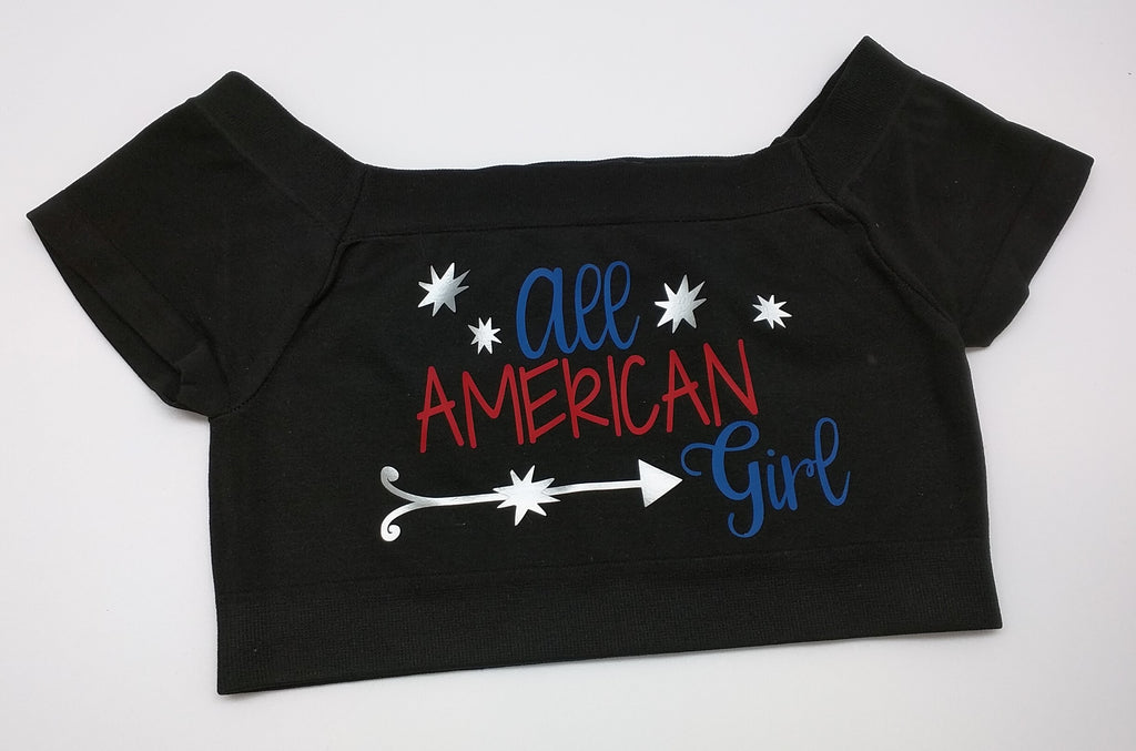 all american girl black crop top
