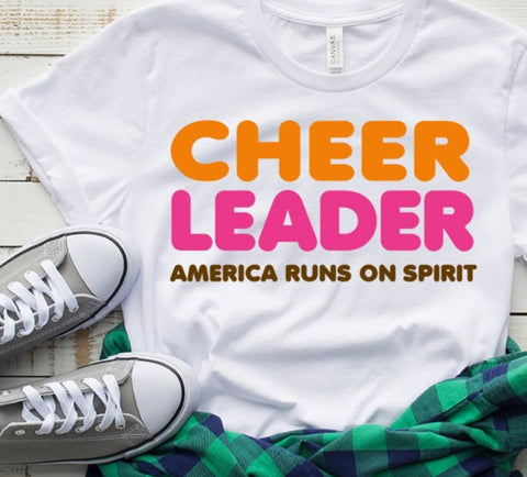 Cheer Leader America Runs on Spirit Shirt
