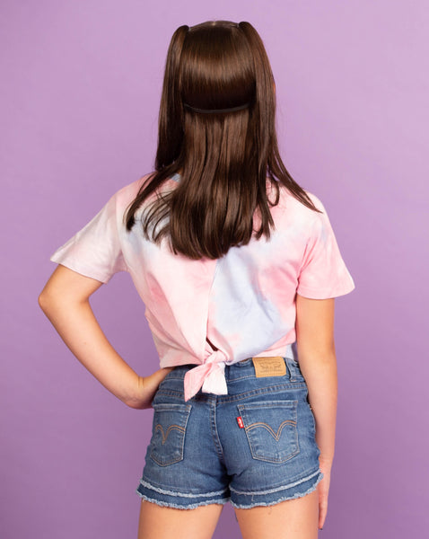 Soft Pastel Tie-Dye Shirt with Back Tie