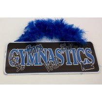 Groovy Signs Gymnastic Words - Blue