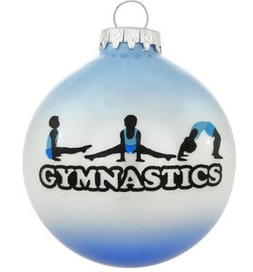 Boys Gymnast Glass Ball Ornament