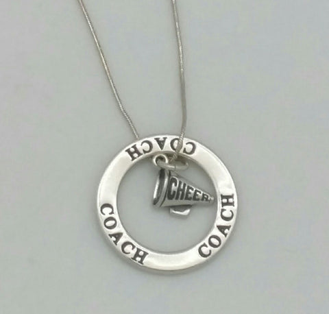 cheer coach megaphone necklace