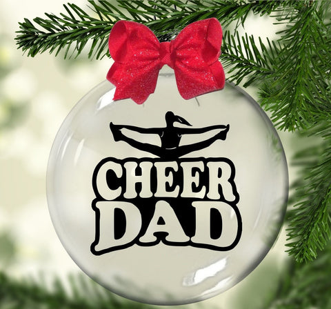 Cheer Dad Floating Ornament