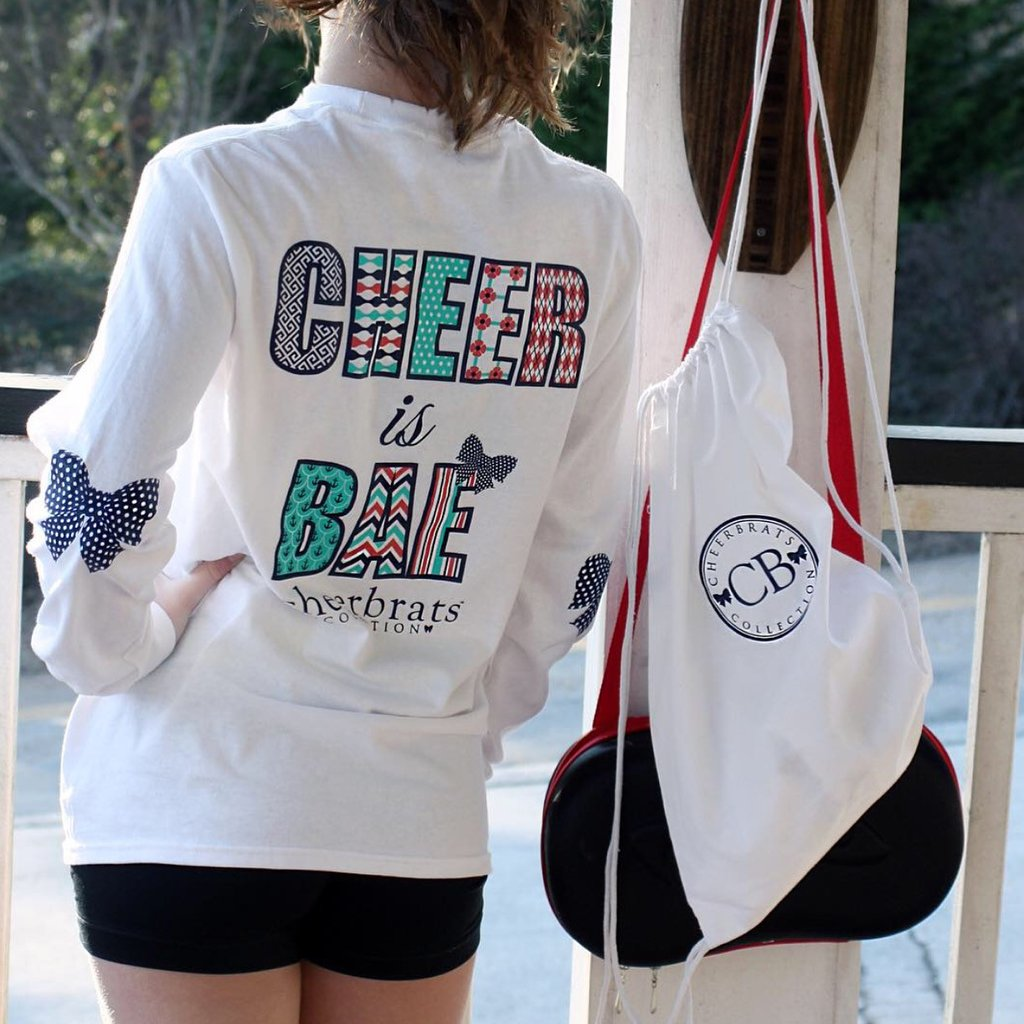 "CheerBrats Collection ""Cheer is BAE"" Long Sleeve Shirt"