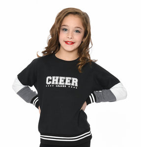 Over-sized Color-block Cheer Sweatshirt
