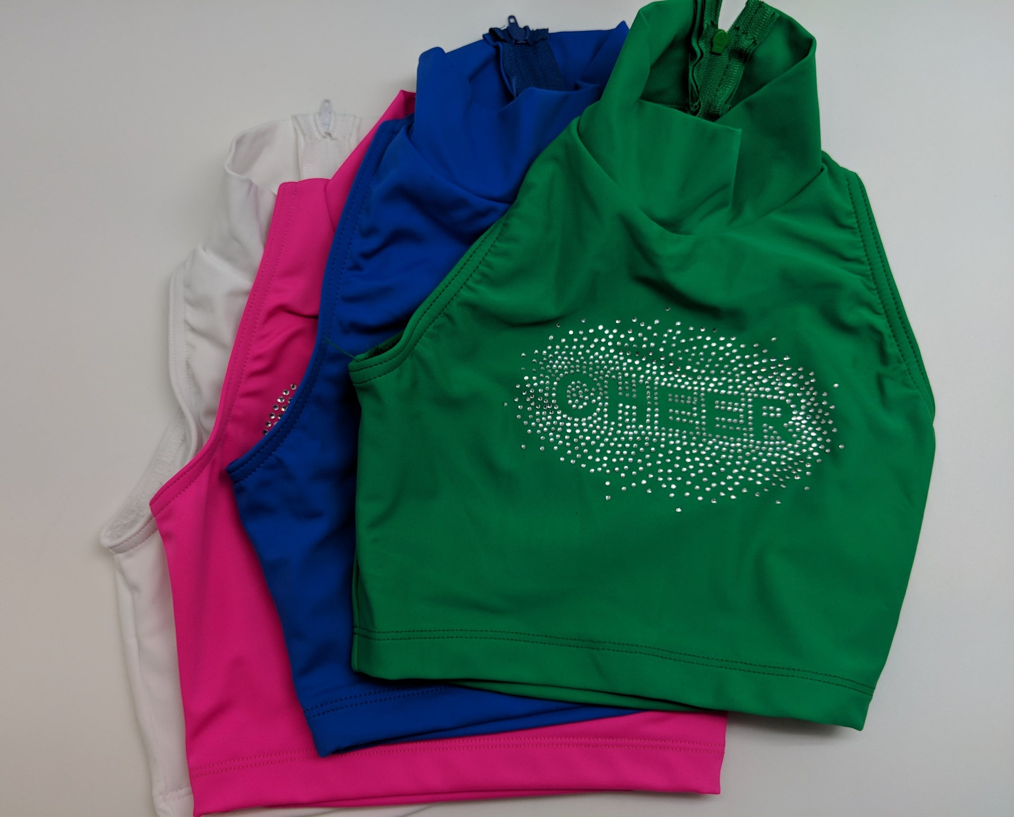 "Sleeveless ""Cheer"" Crop Top"
