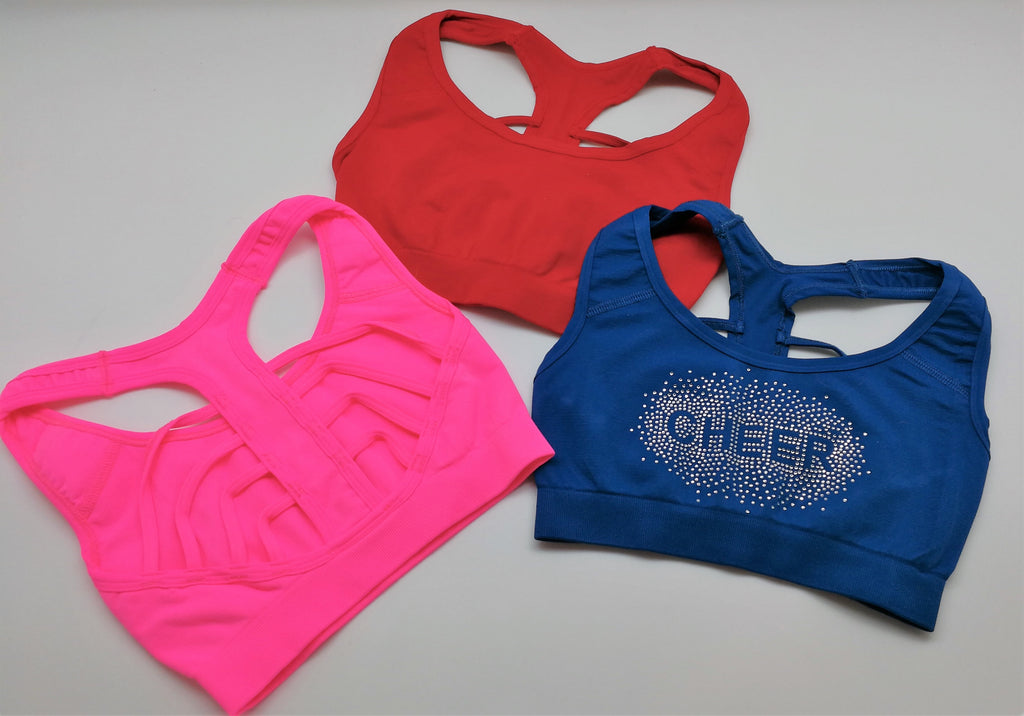 double cross racer-back sport bra