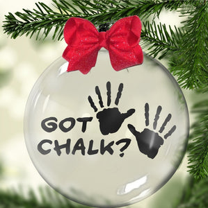 """Got Chalk"" Floating Ornament"