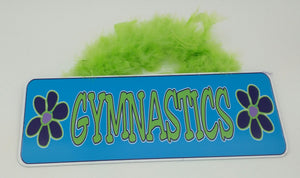 Gymnastic flower sign