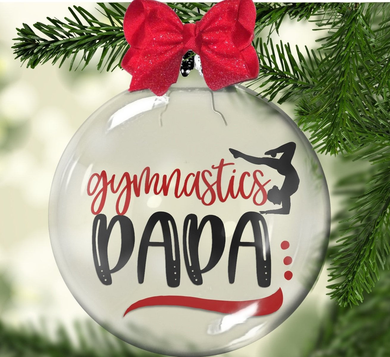 """Gymnastics Papa"" Floating Ornament"