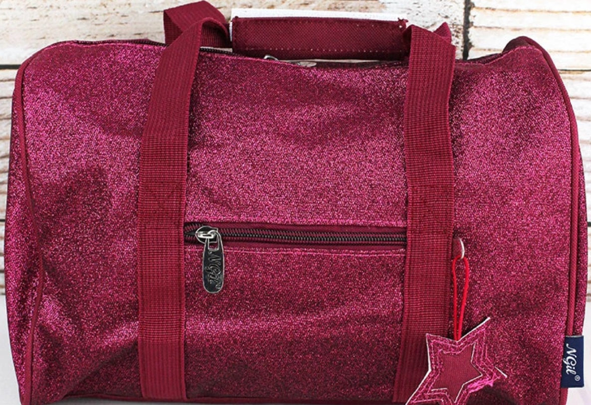 Glitz & Glam Petite Duffel Bag - Hot Pink