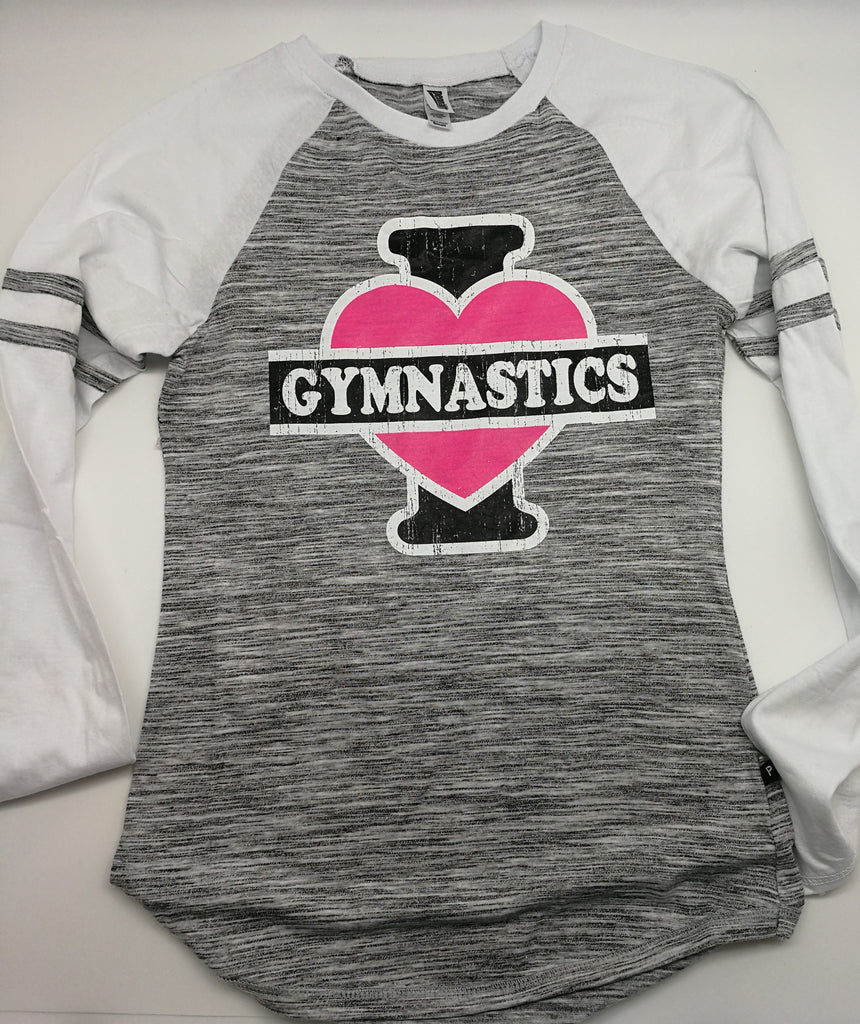 "I ""heart"" Gymnastics Junior Long Sleeve Shirt"