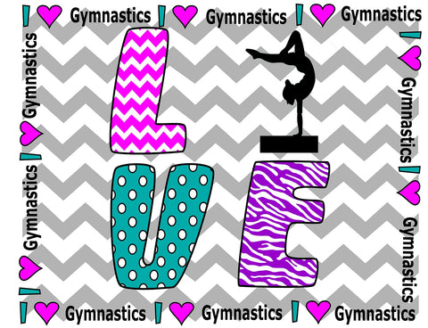 I Love Gymnastics Pillowcase