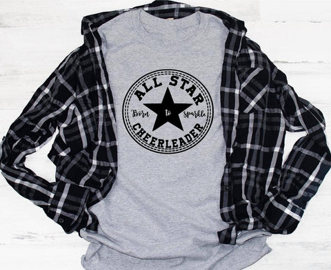 All Star Cheerleader Shirt