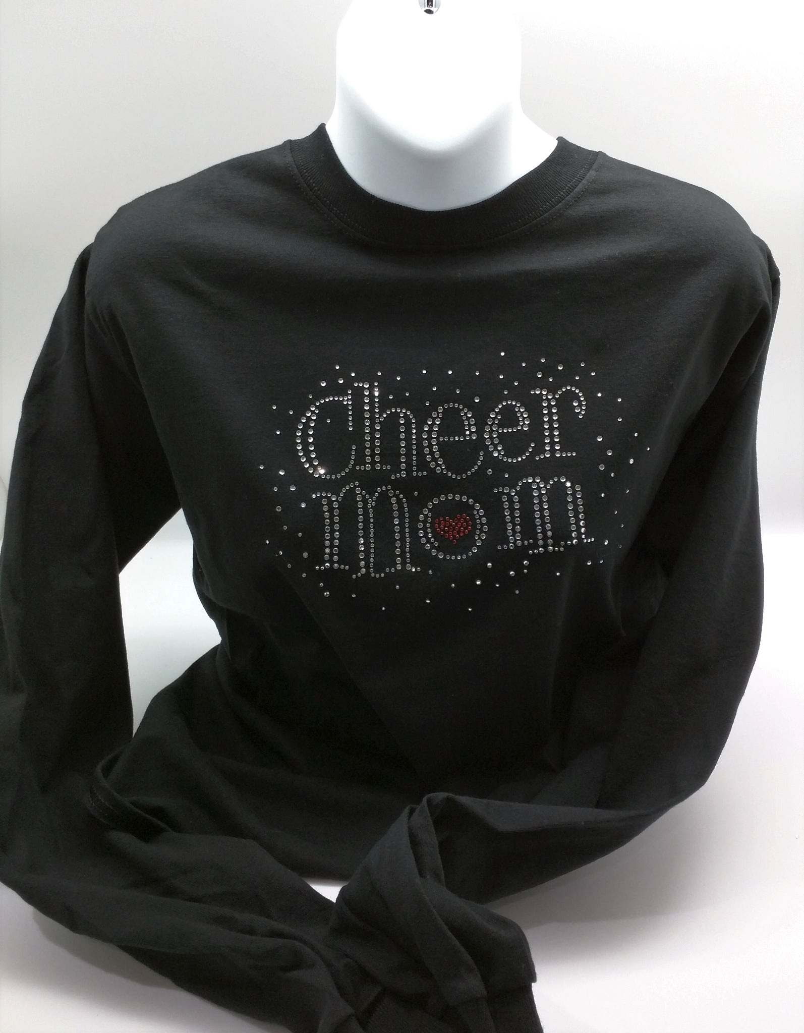 Cheer Mom with heart shirt