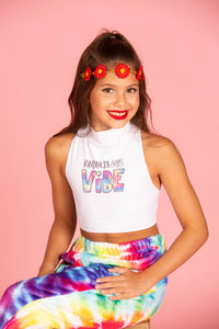 Kindness is my Vibe Sleeveless Crop Top