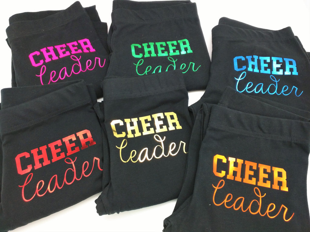 Cheerleader Leggings in Black
