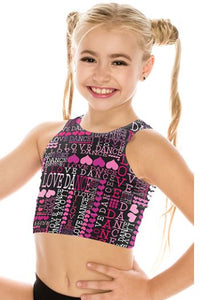 Love Dance Tank Crop Top