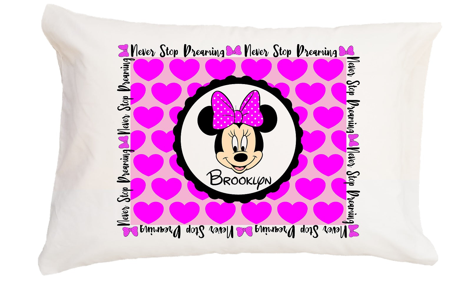 Minnie Mouse Pillowcase