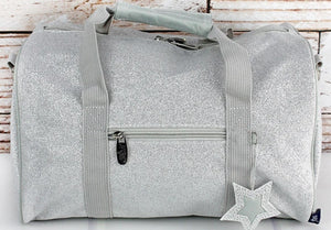 Glitz & Glam Petite Duffel Bag in Silver