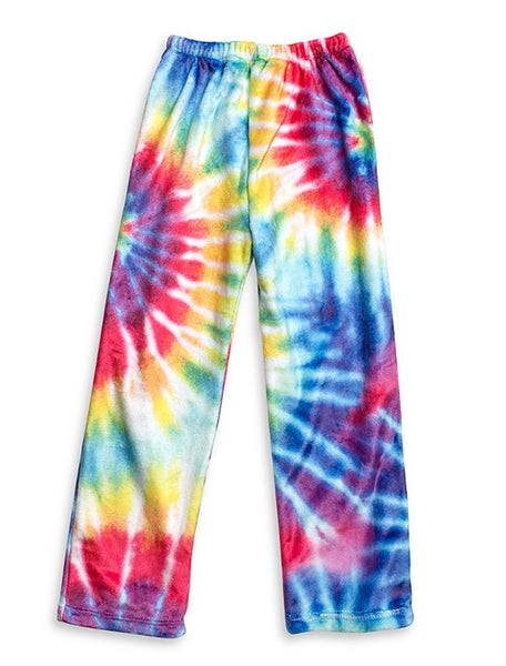 Tie-Dyed Fuzzy Lounge Pants